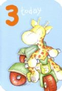 Georgie Giraffe 3rd Birthday Card